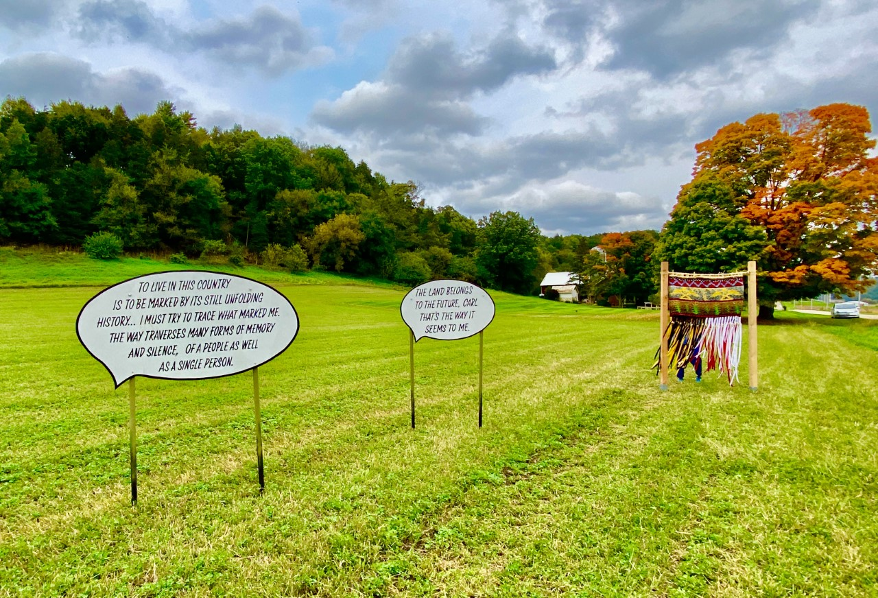 Fermentation Fest DTour quote in a field