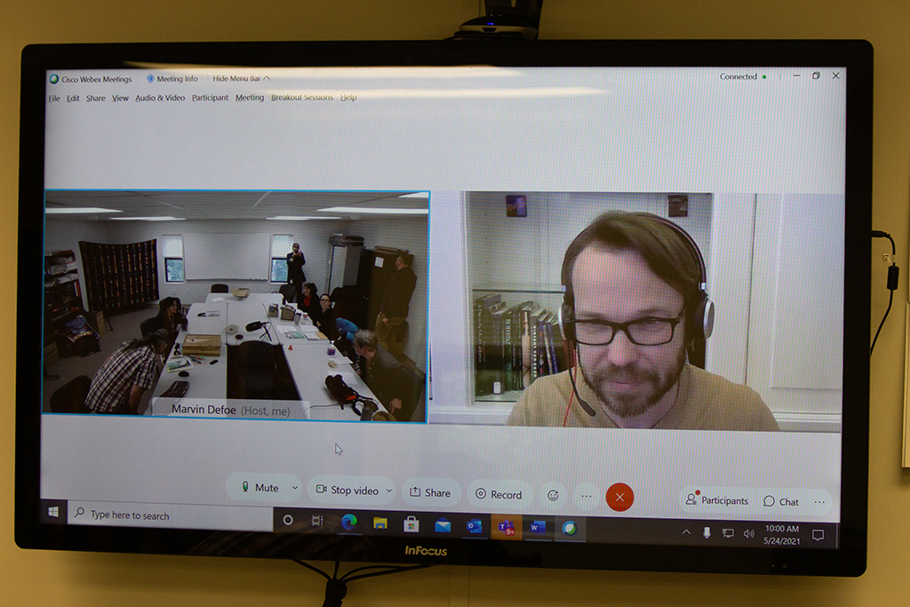 John Creese on webex for Human Powered podcast